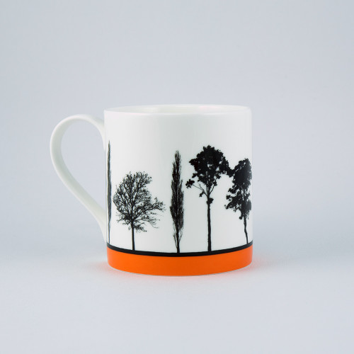Jacky Al-Samarraie Orange Landscape Tree Bone China Mug