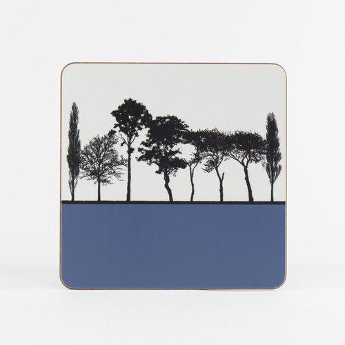 Blue British landscape table mat by designer Jacky Al-Samarraie