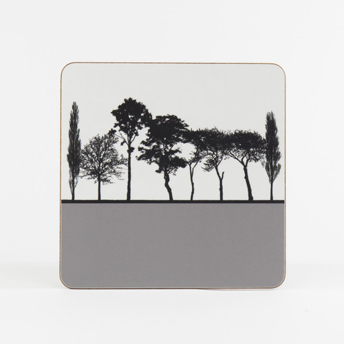 Grey British landscape table mat by designer Jacky Al-Samarraie