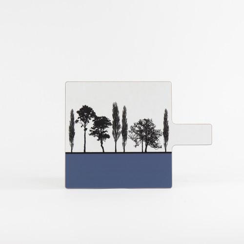 Blue British landscape melamine chopping board by designer Jacky Al-Samarraie