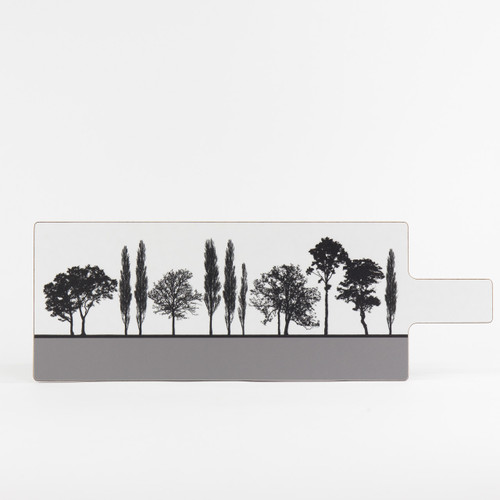 Grey British landscape melamine chopping board by designer Jacky Al-Samarraie