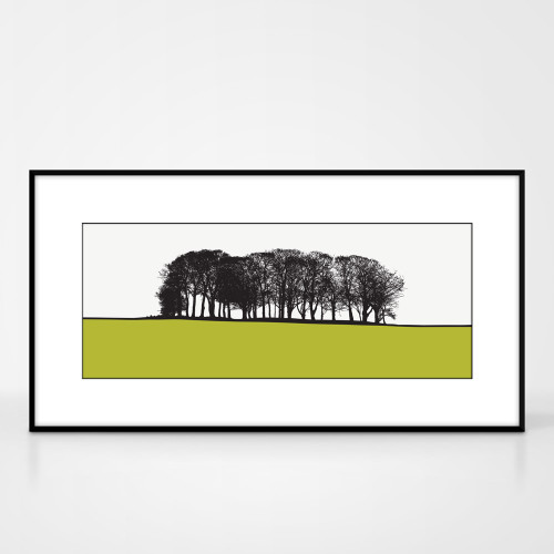 Jacky Al-Samarraie Landscape Print of St Ives, Bingley, West Yorkshire, framed for illustration purposes only.
