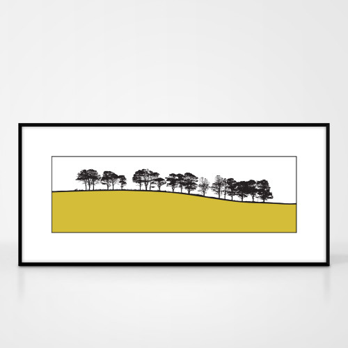 Jacky Al-Samarraie Landscape Print of Gosforth, Cumbria, framed for illustration purposes only.