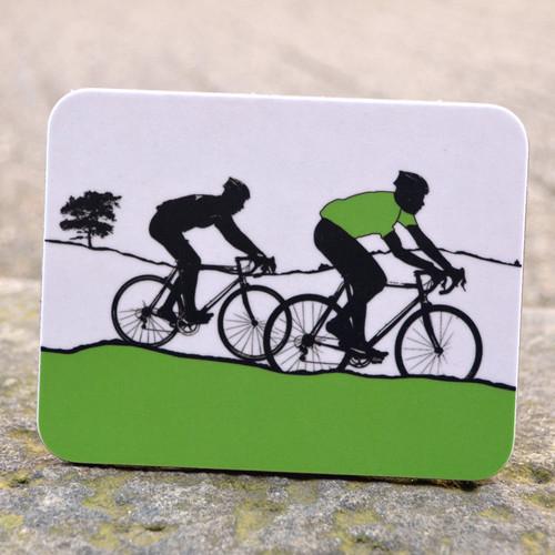 Jacky Al-Samarraie Green Jersey Cycling Coaster