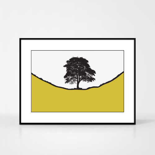 Jacky Al-Samarraie Landscape Print of Sycamore Gap, framed for illustration purposes only.