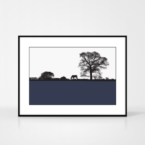 Jacky Al-Samarraie Landscape Print of Masham, framed for illustration purposes only.