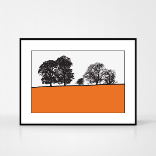 Jacky Al-Samarraie Landscape Print of Windermere, framed for illustration purposes only.