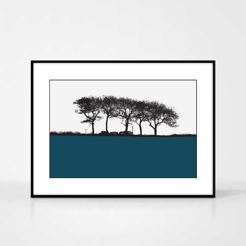 Jacky Al-Samarraie Landscape Print of Elgin, Moray, framed for illustration purposes only.