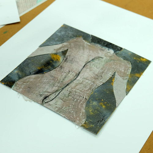 Life Drawing Collagraph print