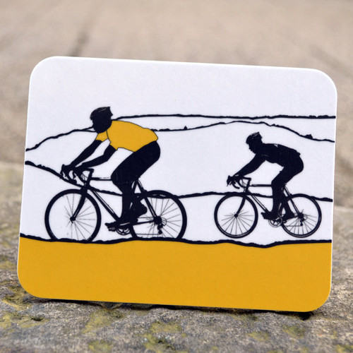 Jacky Al-Samarraie Yellow Jersey Cycling Coaster