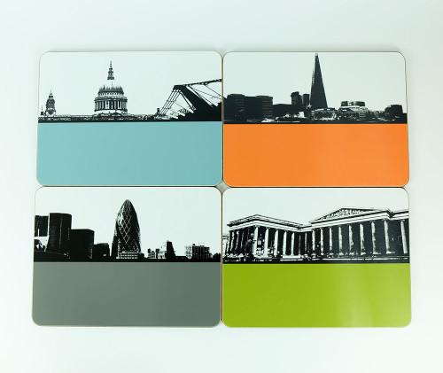 London Placemats Set Two - Seconds