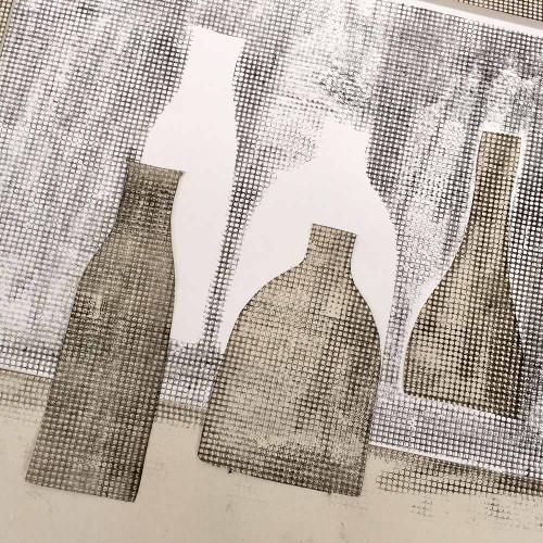 Bottle monotype print Jacky Al-Samarraie