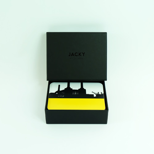 Set of 8 London Coasters with Luxury Black Gift Box- Jacky Al-Samarraie
