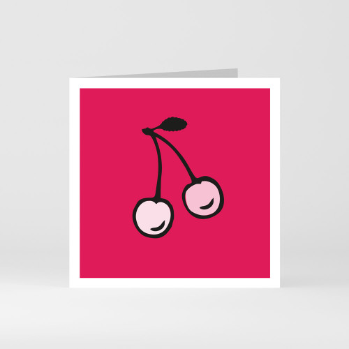 A modern graphic greeting card of lemon fruit by designer Jacky Al-Samarraie