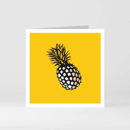 A modern graphic greeting card of pineapple by designer Jacky Al-Samarraie