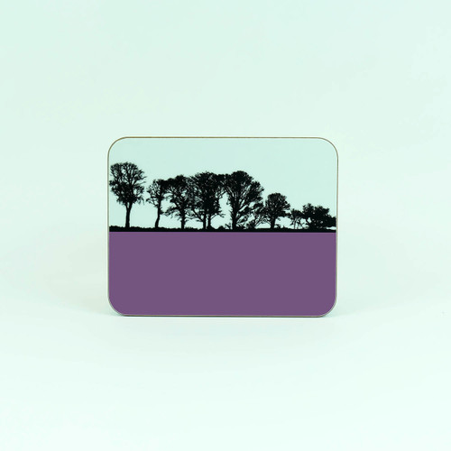Purple coaster for drinks. Thackthwaite Cumbria by Jacky Al-Samarraie