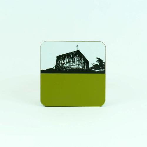 Coaster of Norwich Castle by Jacky Al-Samarraie in green.