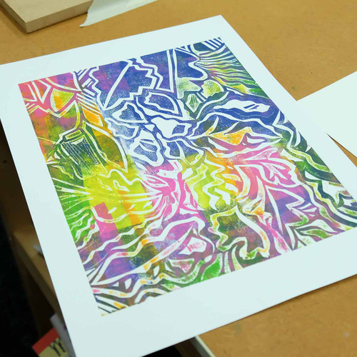 Stencil Cut printmaking - The Art Rooms