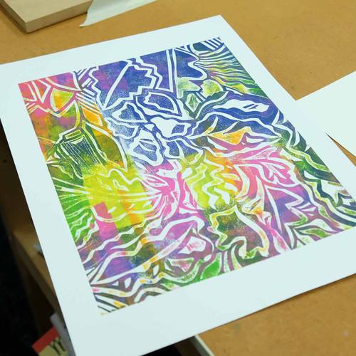 Stencil Cut printmaking - The Art Rooms