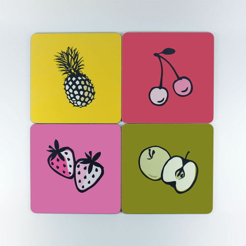 Set of four fruit design table mats by Jacky Al-Samarraie - Seconds