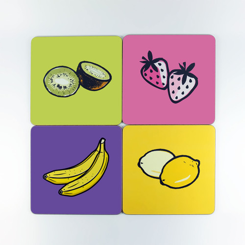 Four fruit melamine table mat seconds by Jacky Al-Samarraie