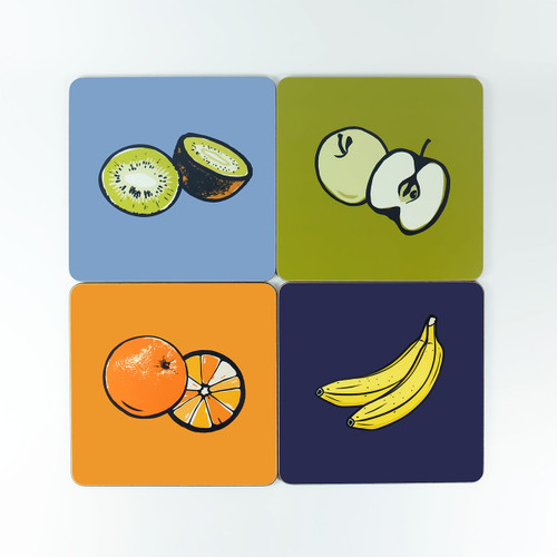 Fruit design table mat set by Jacky Al-Samarraie - The Art Rooms