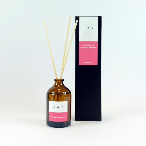 Pomegranate & Pink Pepper Reed Diffuser by Jacky Al-Samarraie