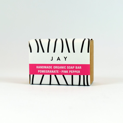 Pomegranate & Pink Pepper Organic Soap Bar by Jacky Al-Samarraie