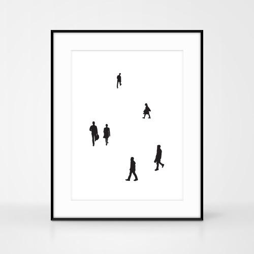 People print No.2 by Jacky Al-Samarraie. Handmade screen print. Size A3.