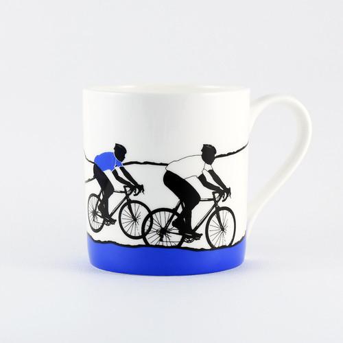 Jacky Al-Samarraie White Jersey Cycling Bone China Mug