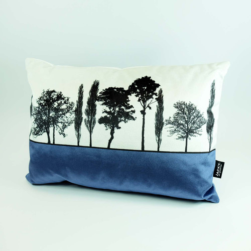 Velvet Landscape cushion by Jacky Al-Samarraie