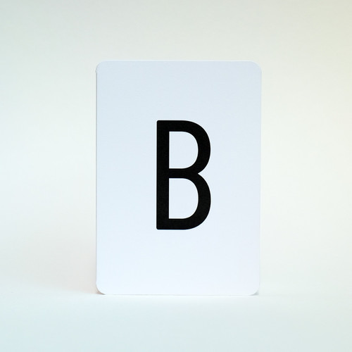 Letter B greeting card by Jacky Al-Samarraie