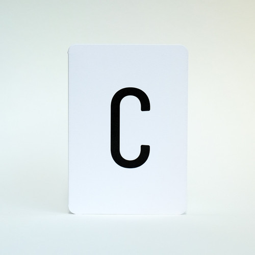 Letter C greeting card by Jacky Al-Samarraie