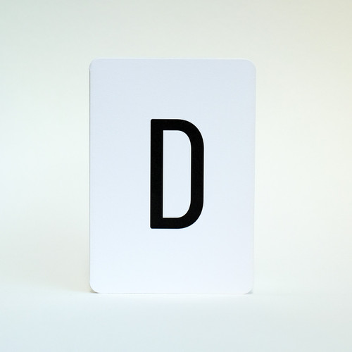 Alphabet Letter D greeting card by Jacky Al-Samarraie
