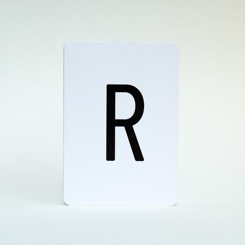Alphabet letter R card by Jacky Al-Samarraie