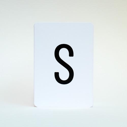 Letter S greeting card by Jacky Al-Samarraie