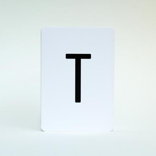 Jacky Al-Samarraie Alphabet letter T greeting card.