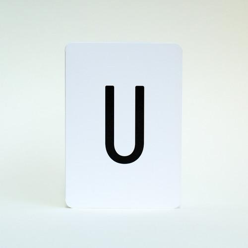 Jacky Al-Samarraie Letter U greeting card.