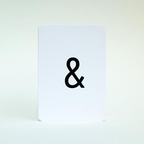 Ampersand card by Jacky Al-Samarraie