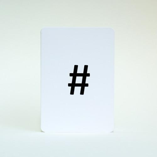Hashtag card by Jacky Al-Samarraie