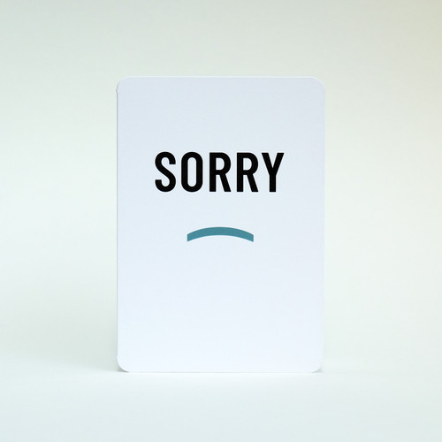 Sorry card by Jacky Al-Samarraie