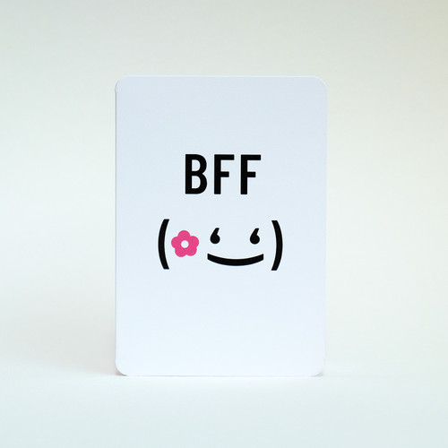 Best Friend greeting card by Jacky Al-Samarraie