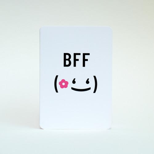 Best Friend greeting card by Jacky Al-Samarraie