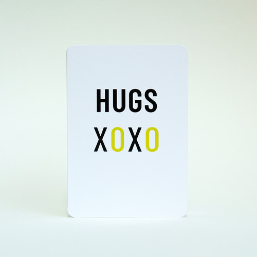 Hugs greeting card by Jacky Al-Samarraie
