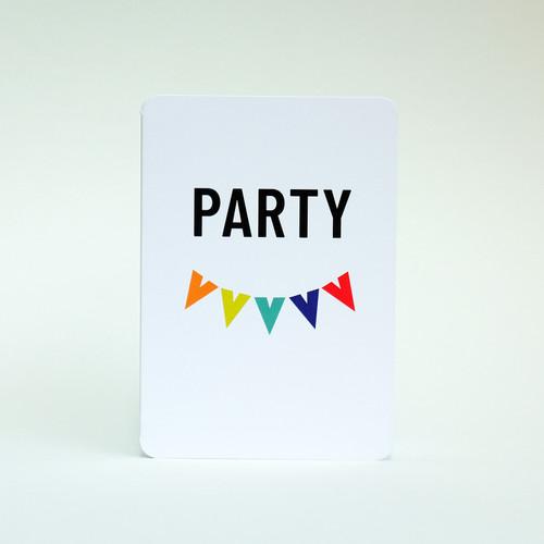 Party greeting card by Jacky Al-Samarraie