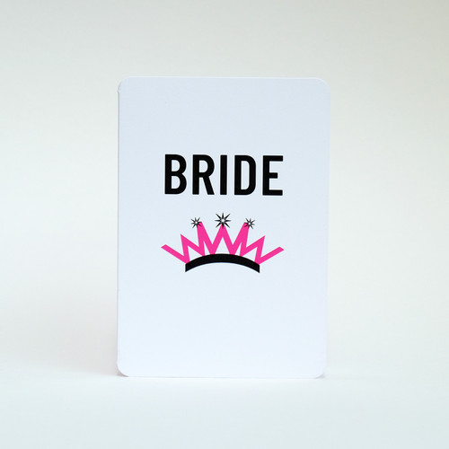 Bride Wedding card by Jacky Al-Samarraie