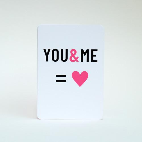 Love greeting card by Jacky Al-Samarraie