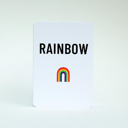 Rainbow greeting card by Jacky Al-Samarraie