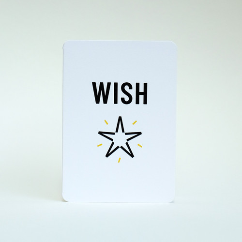 Wish upon a star greeting card by Jacky Al-Samarraie