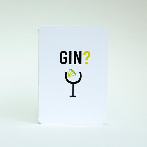 Gin & Tonic drink  invitation card by Jacky Al-Samarraie